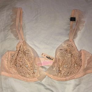 Victoria's Secret Dream Angels unlined Crystal bra